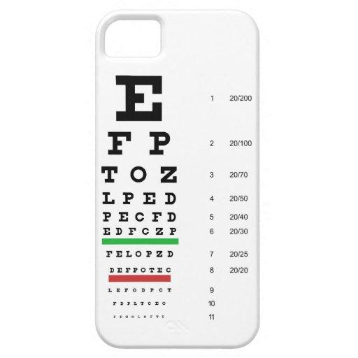 Carta de ojo de Snellen iPhone 5 Cárcasa