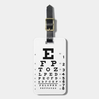 Carta de ojo etiqueta de equipaje