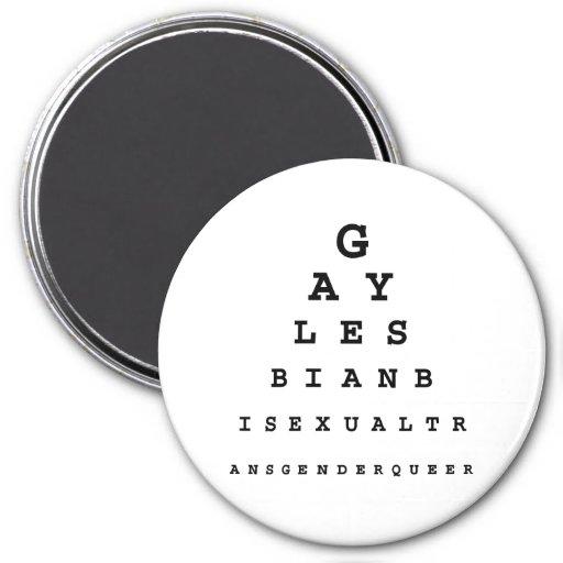 Carta de ojo gay .png imán de frigorifico