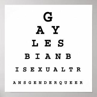 Carta de ojo gay .png póster