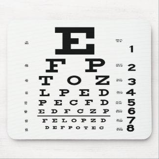 Carta de ojo Mousepad Alfombrilla De Ratones
