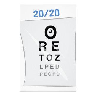 Carta de ojo papelería personalizada