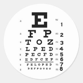 Carta de ojo pegatina redonda