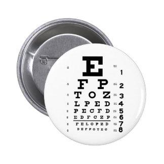Carta de ojo pin redondo de 2 pulgadas
