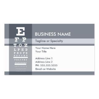 carta de ojo profesional tarjetas de visita