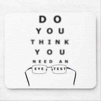 Carta de prueba del ojo alfombrillas de ratones