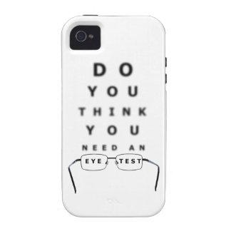 Carta de prueba del ojo iPhone 4 fundas