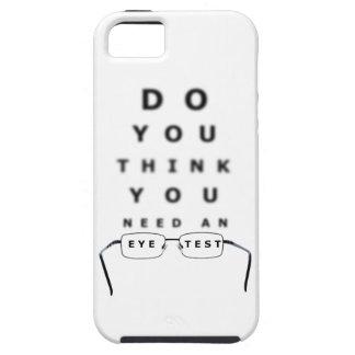 Carta de prueba del ojo iPhone 5 funda