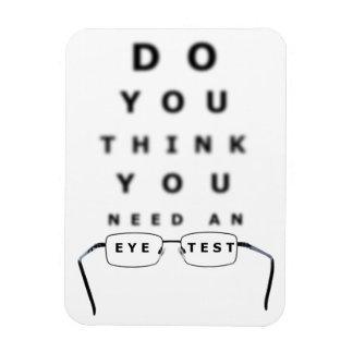 Carta de prueba del ojo imanes rectangulares