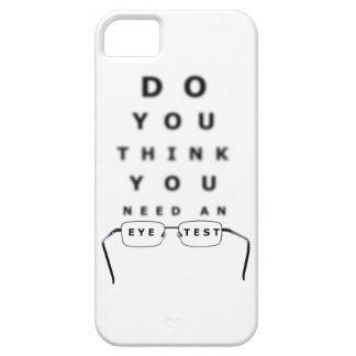 Carta de prueba del ojo iPhone 5 fundas