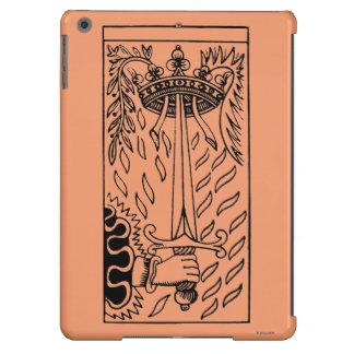 Carta de tarot: As de espadas Funda Para iPad Air