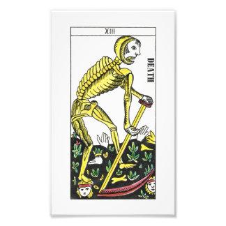 Carta de tarot de la muerte fotografías