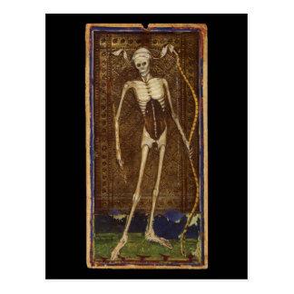 Carta de tarot de la muerte tarjetas postales