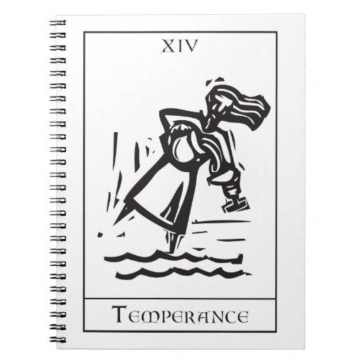 Carta de tarot de la templanza cuaderno