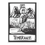 Carta de tarot de la templanza postales