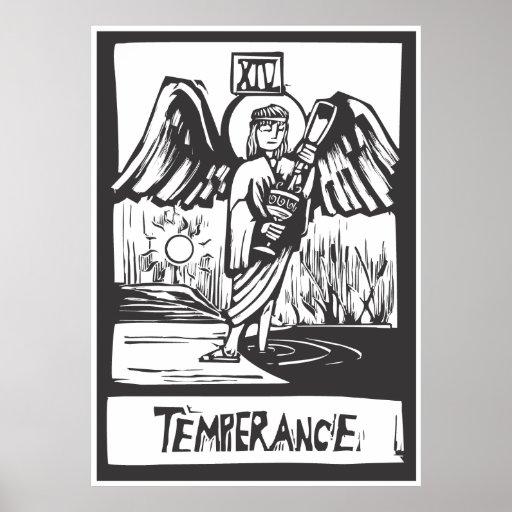 Carta de tarot de la templanza póster