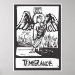 Carta de tarot de la templanza posters