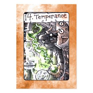 Carta de tarot de la templanza plantillas de tarjetas de visita