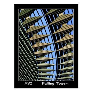 Carta de tarot de la torre que cae postales