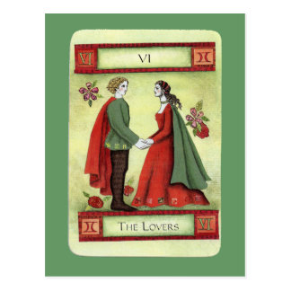 "Carta de tarot ""de los amantes"" tarjetas postales"