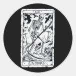 Carta de tarot de Mort del La Etiquetas Redondas