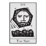 Carta de tarot de Sun Posters