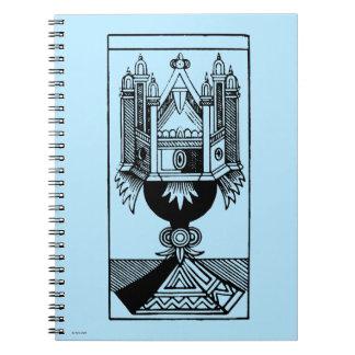 Carta de tarot: El as de tazas Spiral Notebook