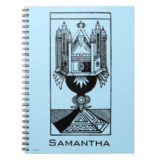 Carta de tarot: El as de tazas Spiral Notebooks