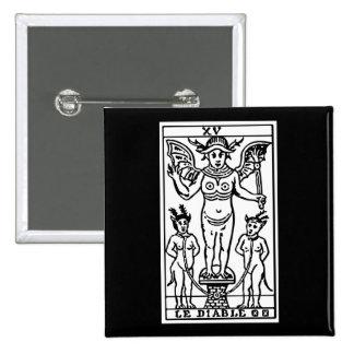 Carta de tarot: El diablo Pin Cuadrada 5 Cm