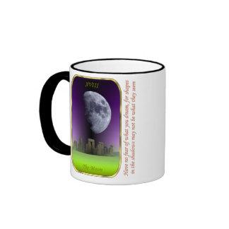 Carta de tarot - la luna taza de dos colores