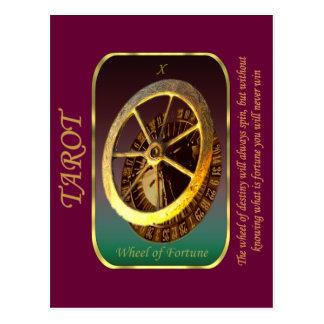 Carta de tarot - rueda de la fortuna postal