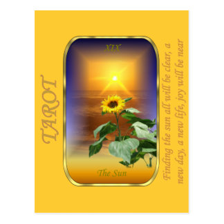 Carta de tarot - The Sun Tarjeta Postal