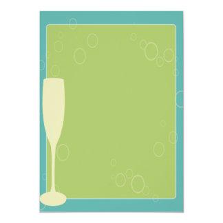 Carta de vinos o menú en blanco invitación 12,7 x 17,8 cm