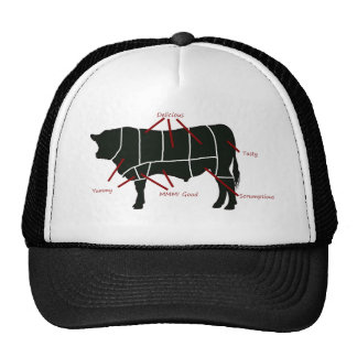 ¡Carta del carnicero de la carne de vaca - carne d Gorro De Camionero