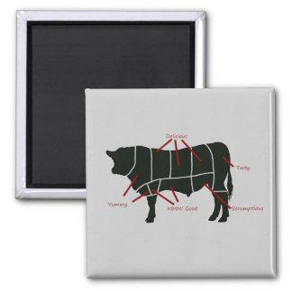 ¡Carta del carnicero de la carne de vaca - carne d Imanes Para Frigoríficos