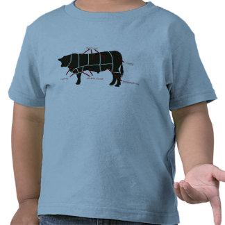 ¡Carta del carnicero de la carne de vaca - carne d Camiseta
