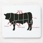 ¡Carta del carnicero de la carne de vaca - carne d Tapete De Ratón
