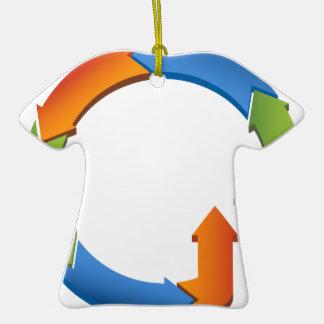 Carta del ciclo del proceso de negocio de la adorno de cerámica en forma de camiseta