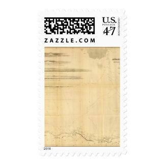 Carta del continente antártico sello postal