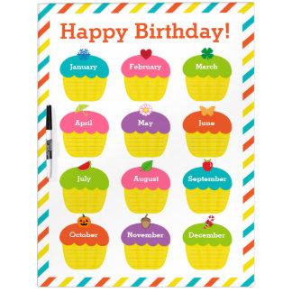 Carta del cumpleaños de la sala de clase pizarra