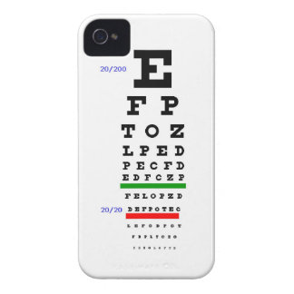 Carta del examen de la vista iPhone 4 Case-Mate fundas