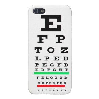 Carta del examen de la vista iPhone 5 carcasas