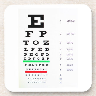Carta del examen de la vista posavasos