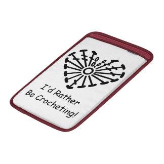 Carta del ganchillo del corazón (Crocheting Fundas MacBook