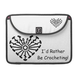 Carta del ganchillo del corazón (Crocheting Fundas Macbook Pro