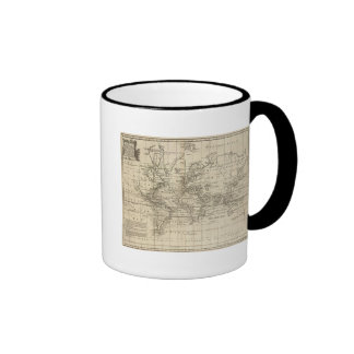 Carta del mundo tazas de café