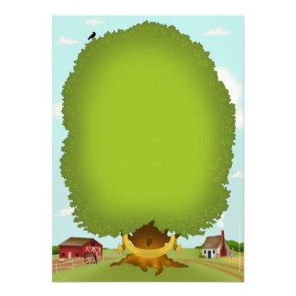Carta del pedigrí del árbol de familia de la genea invitaciones personalizada