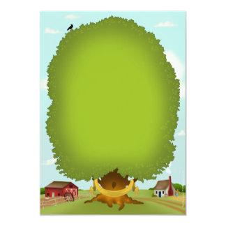 Carta del pedigrí del árbol de familia de la invitación 12,7 x 17,8 cm