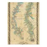 Carta del río Misisipi más bajo Postales