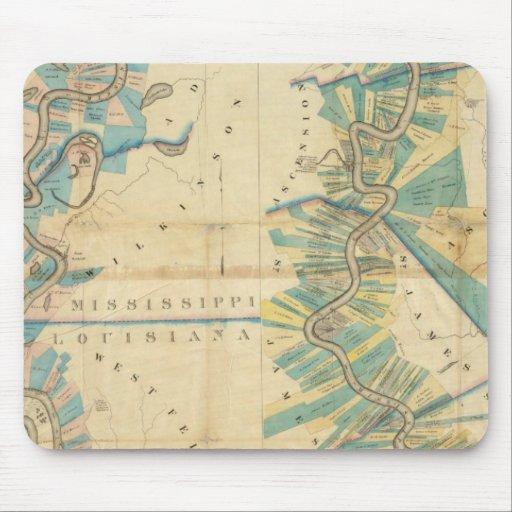 Carta del río Misisipi más bajo Tapete De Ratón